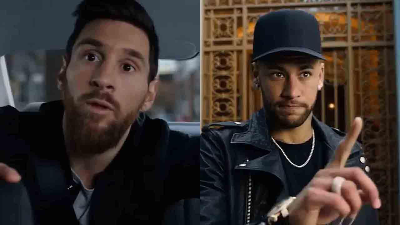 Anuncio de Mastercard con Messi y Neymar. Montaje de José Ramón Lorenzo